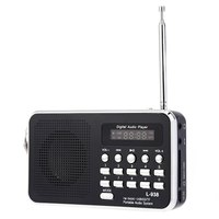 Hot Selling Mini Portable FM Radio Rechargeable Digital LED MP3 Speaker Player Support TF Card Playing
