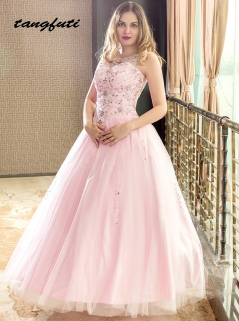 Luxury Quinceanera Dresses 2018 Ball Gown Long Masquerade Puffy Fully  BeadedCrystals Corset Sparkly Sweet 16 Dress Quinceanera 4d82680f2305