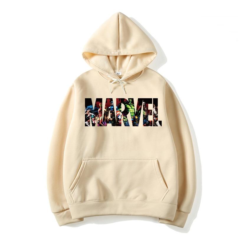 2018 New Brand Marvel Hoodies Men High Quality Long Sleeves Casual Men Sweatshirt Hoodies Marvel Print Hoodie Tracksuits Male