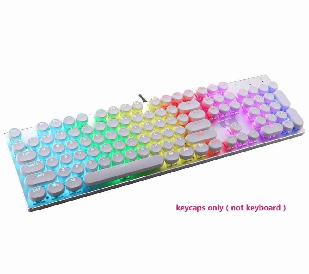 Круглые ABS брелки для Cherry MX Outemu механическая клавиатура с подсветкой двойной инъекции США Макет ретро набор клавишных колпачков, белый