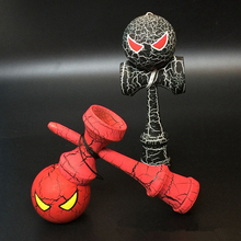 Spider Theme Wooden Full Crack Kendama Professional