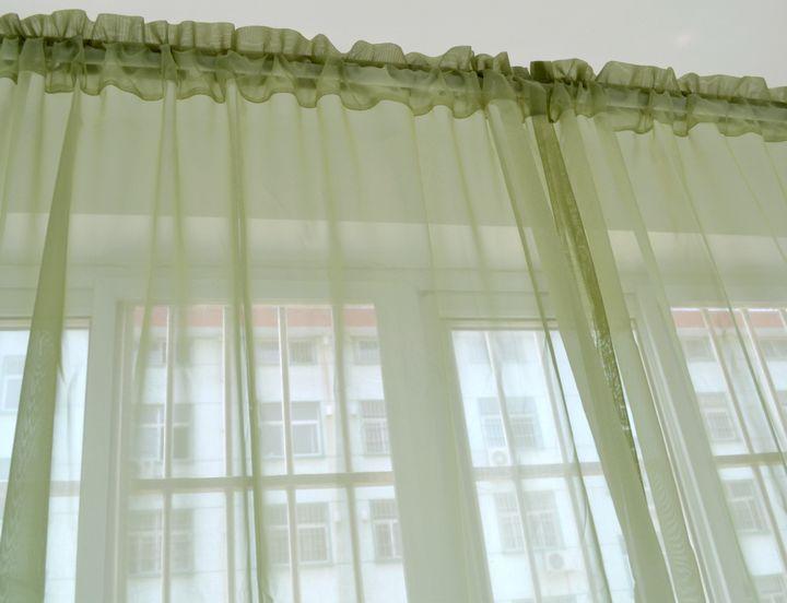 Mode vert bleu rideau pour fenêtre voilages tulle pour le salon baie ...