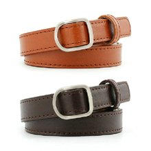 Fashion retro candy color belt metal buckle ladies thin section casual belt clothing accessories women's belt