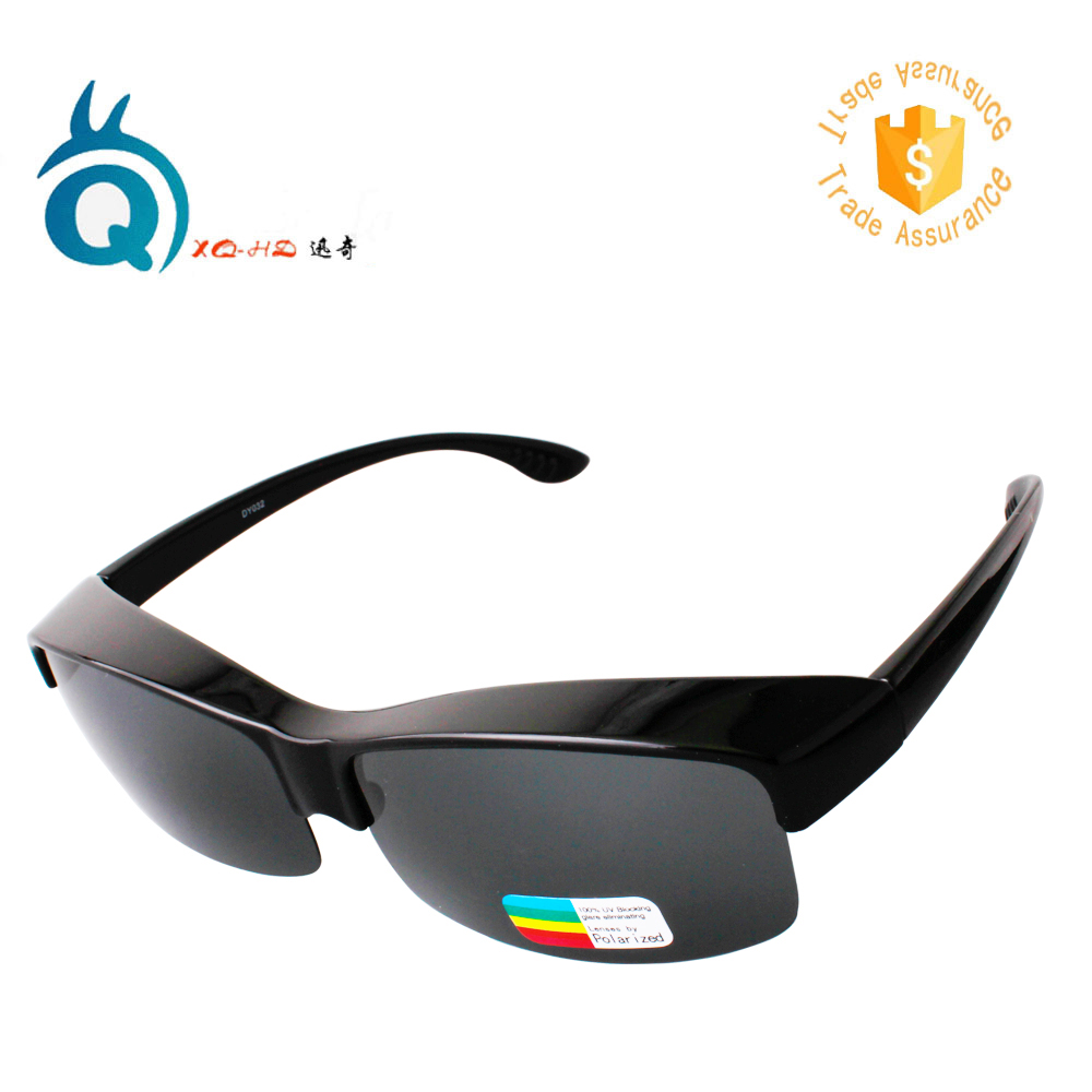 XQ-HD Polarized Fit over Fishing Sunglasses - Special Design for myopia fit for leisure and outdoor activities xq hd black