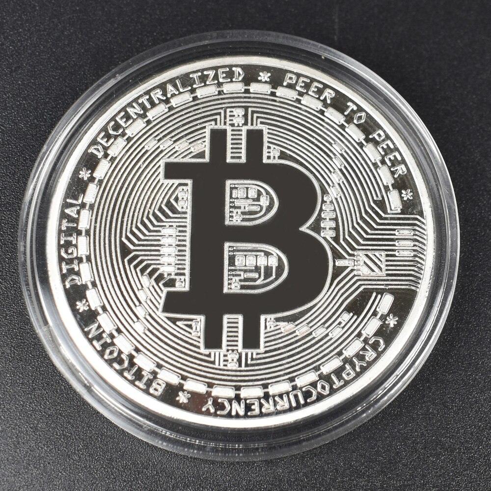 Hot 50pcs/Lot Bitcoin coin BTC Bit Metal Coin For Souvenir-5