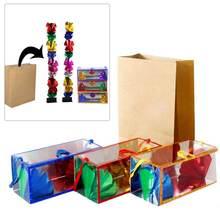 цены на 2019 Hot Selling Magic Paper Flower Boxes Magic Change Bag Magic Trick tools Empty bag props Magician Street Stage Prop в интернет-магазинах