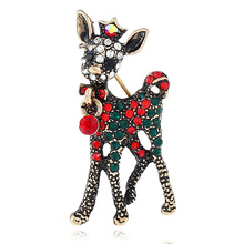 CINDY XIANG Exquisite Animal Rhinestone Brooches For Women Christmas Gift Pins Dress Coat Accessories Jewelry New Arrival 2018