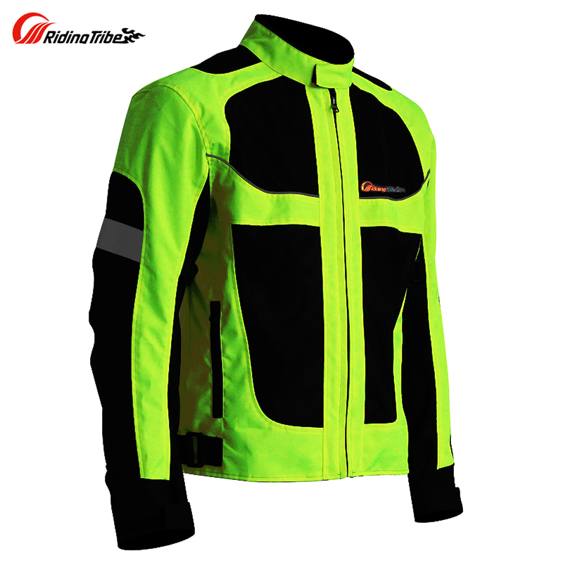 Motorbike reflective Night clothes jacket Motorcycle protective gear pads jackets Riding racing summer pants clothing 1
