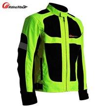 Летние мотоциклетные для мужчин Женская Куртка Мото Защитное снаряжение куртка Гонки Светоотражающие оксфордская одежда мото куртки
