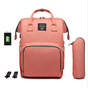 Image 3 - Lequeen usbおむつバッグベビーケア大容量ママバックパックミイラ産科ウェットバッグ防水ベビー妊娠中のバッグ