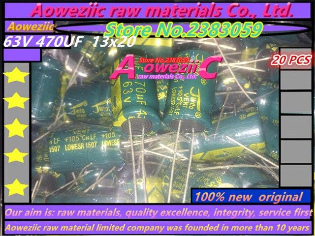 Aoweziic 20 PCS 63 V 470 미크로포맷 13*20 고주파 저 저항 전해 콘덴서 470 미크로포맷 63 V 13X20