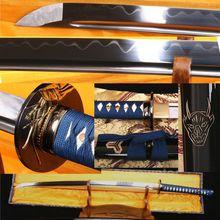 1095 CARBON STEEL CLAY TEMPERED JAPANESE SAMURAI SWORD KATANA VERY SHARP