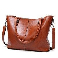 2017 Women Genuine Leather Handbags Cowhide Famous Brands Designer Handbags High Quality Tote Bag Oil Wax