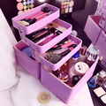 South Korea 3CE Cosmetics Case 5layers Folding Large-Capacity Cosemtic Box Nails Care Makeup Tools Storage Trunk