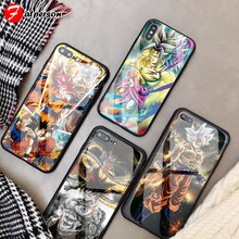 Dragon Ball Para O iphone 11 Pro 8 X S R MAX 7 Plus 6s 5 SE Custom Telefone Vidro Temperado caso Para Sumsung Galaxy note 8 9 10 + Plus(China)