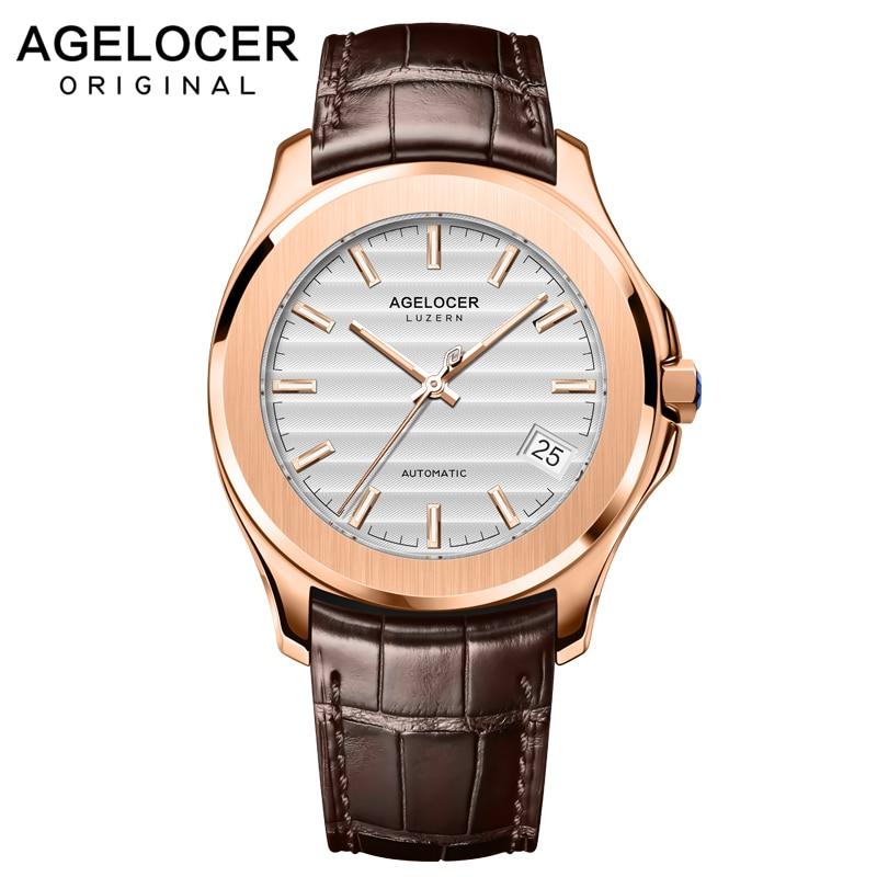 Lumineux Suisse montre homme Automatique Mécanique 80 Heures Puissance Réserve Date Bleu Pierre Couronne montres en or Mâle montre-bracelet