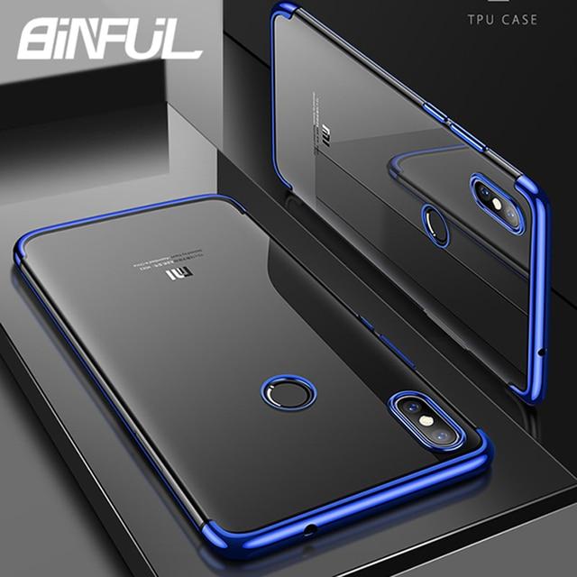 Xiaomi Redmi 7 funda cubierta de lujo delgada transparente chapado TPU suave silicona contraportada para Xiao mi Red mi 7 7 teléfono Coque