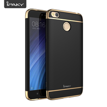 Electroplate Case For Redmi 4X, IPAKY 3 In 1 PC Electroplated Matte Luxury Shock Absorption Hybrid Case Cover For Redmi 4X