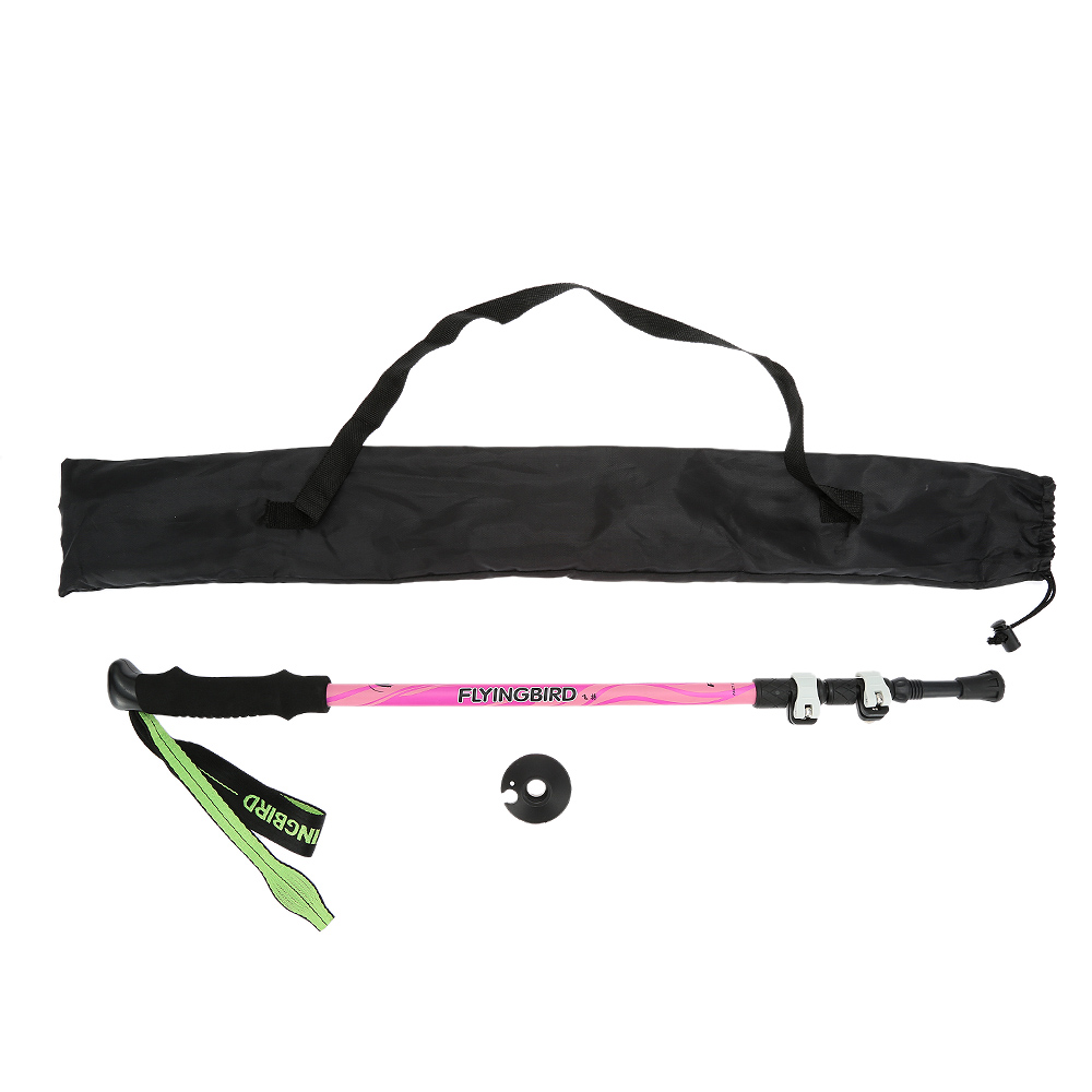Image 2 - Carbon Fiber Lightweight Trekking Pole Adjustable Telescopic Hiking Walking Stick 3 Section For Camping Hiking-in Walking Sticks from Sports & Entertainment