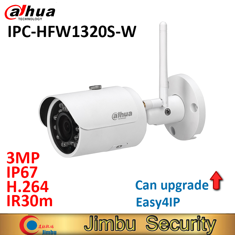 Dahua wifi IP camera IPC-HFW1320S-W 3MP easy4IP H.264 IR30m DWDR waterproof IP67 bullet security camera CMOS цена 2017