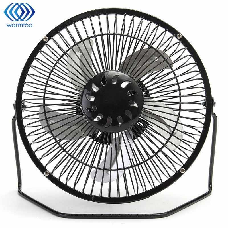 8 Inch USB Fan 360 Degrees Rotate Mini Cooling Iron Fan 5W For Office Home Portable Computer PC Fan blue green pink fan mini fan clip style portable fan 3 grear 360 degree rotate new design usb cooling