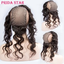 360 Lace Frontal With Wig Cap Mongolian Virgin Hair Body Wave 13″x4″ Pre Plucked 360 Degree Lace Frontal Closures With Baby Hair