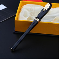 1pc/lot Picasso 986 Black Roller Ball Pen Gold Clip Pimio Picasso Irene Ball Pens Canetas Brand Pen With Retail Box 13.5*1.1cm