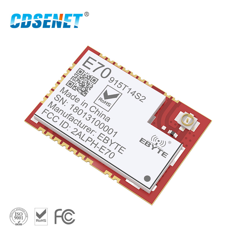915MHz CC1310 Transceiver Rf Module E70-915T14S2 SMD UART Iot Transmitter And Receiver 915 MHz SOC Development For IPEX Antenna