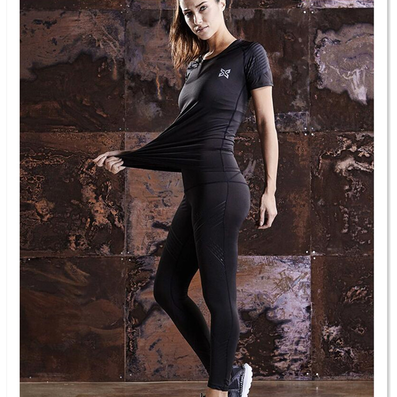 ФОТО Quick dry sports suit women running training sets sports compression underwear jogging femme sports suit fitness gym skins suits