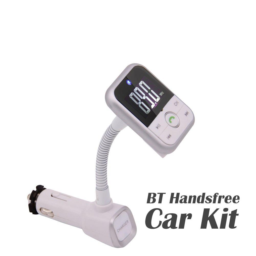 Bluetooth FM Transmitter, Wireless Radio Audio Adapter <font><b>with</b></font> <font><b>Car</b></font> Charger, Music APP, Stereo <font><b>MP3</b></font> <font><b>Player</b></font> AUX <font><b>Port</b></font> <font><b>USB</b></font> Micro <font><b>SD</b></font> <font><b>Card</b></font> image