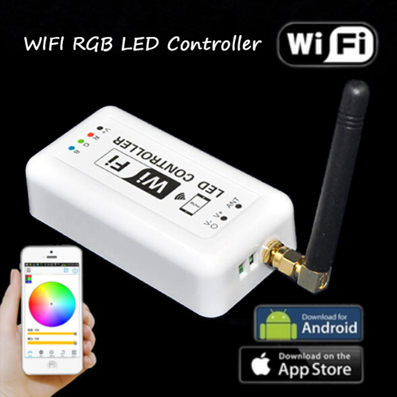 WiFi 370 Wireless RGB LED Strip Light Controller for Android system and IOS system wireless WiFi LED Controller