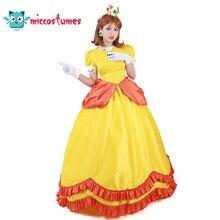 Prinses Daisy Kostuum Vrouw Geel Lange Jurk