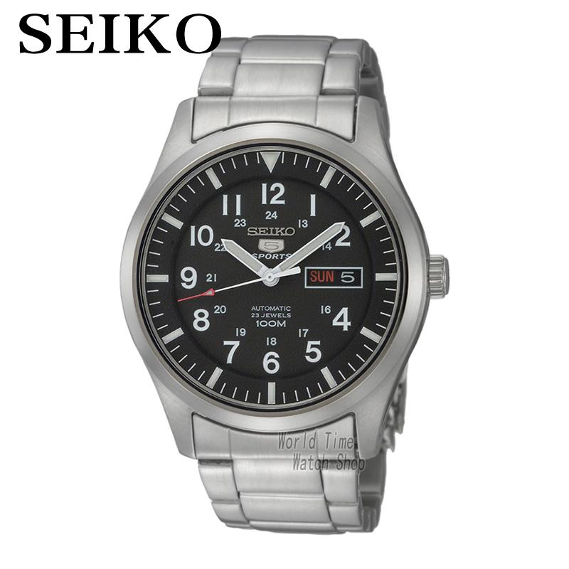 [ pre sale november 11 delivery ] seiko watch seiko 5 automatic sports st aviator 24 jewels men s watch made in japan srp349j1 SEIKO Watch No. 5 Automatic Fashion automatic mechanical waterproof men watch SNZG13J1 SNZG11K1 SNZG07J1 SNZG17J1