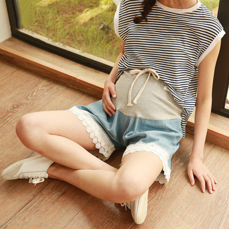 2018 Fashion Maternity Denim Shorts Summer Shorts For Pregnant Women Clothing Pregnant Clothes Abdominal Pants,Capris Q1