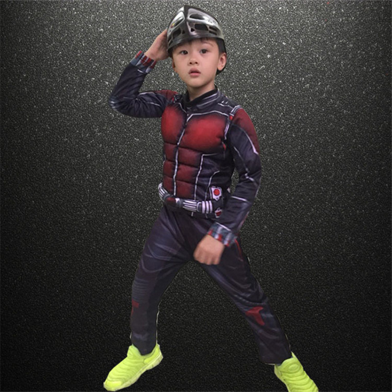 COULHUNT 2019 Kids Ant Man Muscle Costume Boys Marvel New Superhero Cosplay Halloween Fancy Dress Movie Ant Man Costume