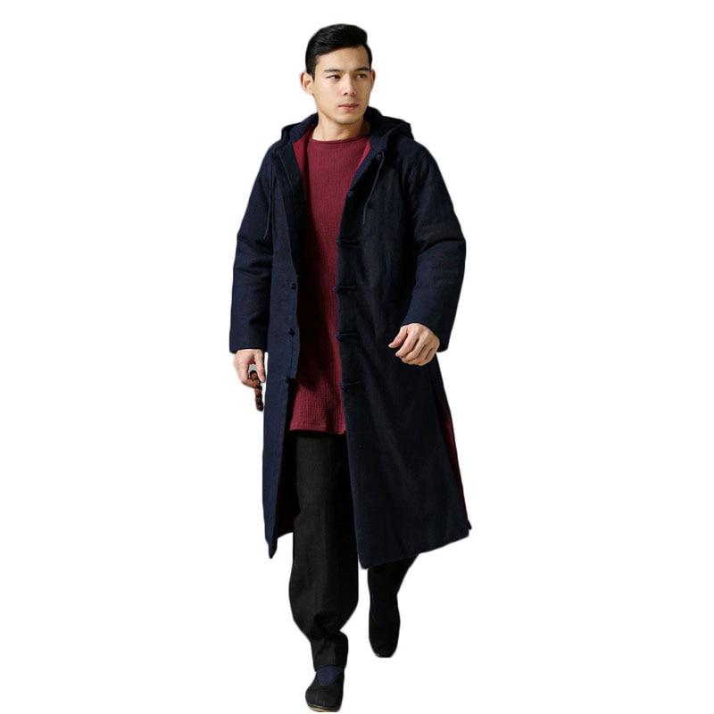 차가운 민족 동향 유행 자외선 차단제 비옷 겨울 자 켓 코트 긴 트렌치 코트 남자 오버코트 대형 6colors