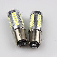 1 шт. автомобильный 1156/1157 светодиодный сигнал поворота противотуманный фонарь тормозной задний фонарь 5630/5730 33SMD светодиодный Автомобильный светодиодный фонарь