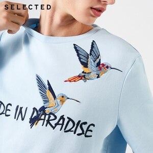 Image 4 - 選択綿 100% 刺繍男性の春プルオーバーパーカーメンズラウンドネックトレーナー服 S