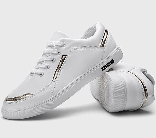 Size 39~44 Pure White Mens Casual Shoes 2017 Leather Lace-Up Mens Shoes Fashion Black Boys Students Shoes chaussure homme