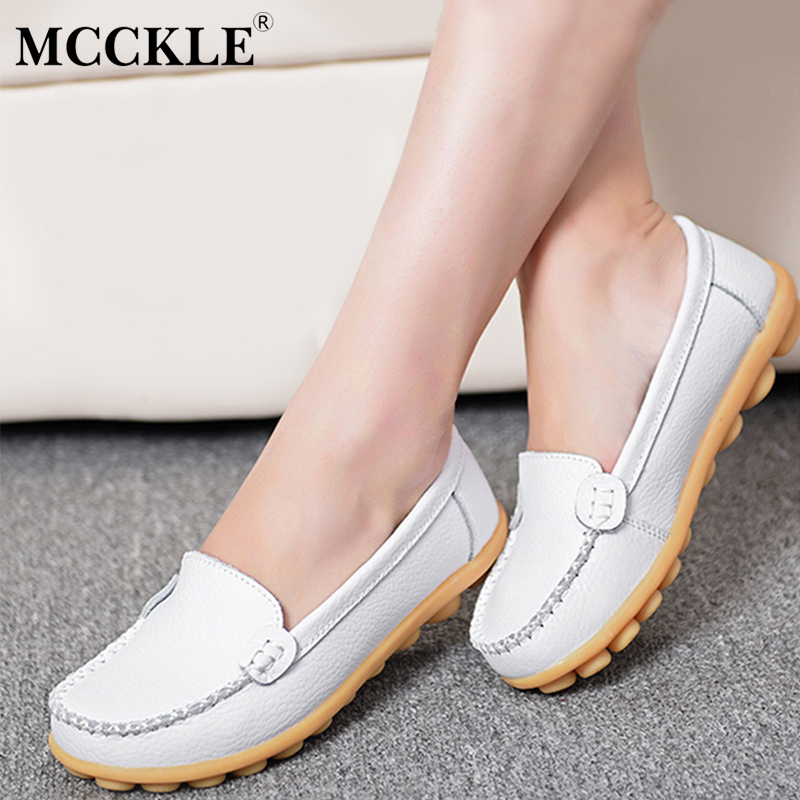 MCCKLE 2017 Comfortable Fashion Female Flat Moccasins Black Casual Slip On Women's Loafers Platform Style Plus Size Woman Shoes mcckle 2017 fashion woman shoes flat women platform round toe lace up ladies office black casual comfortable spring