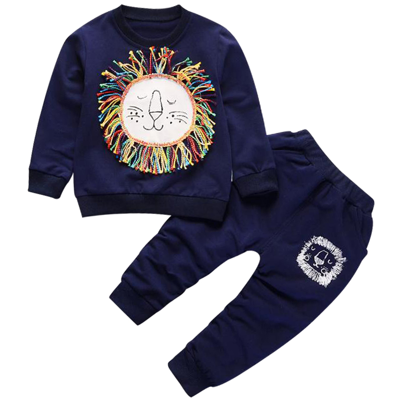 Spring Autumn Baby Boy Clothes Cartoon Top + Pants 2pcs Sport Suit Children Boys Clothing Set Infant Boy Tracksuit Free shippin