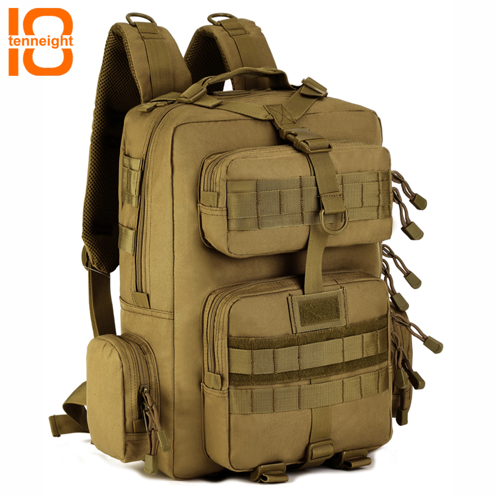 TENNEIGHT 30L Outdoor Sport Camping backpack nylon Military Tactical Backpack Travel Backpack Hiking Riding Hunting Climbing bag sports travel airsoft tactical knapsack camping climbing backpack 600d nylon hiking hunting vintage military bag camouflage