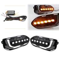 LED Fog Light Daytime Driving Lamp DRL Indicators For Honda Fit Jazz 2018 Pair Car Replacement Kit Super Bright