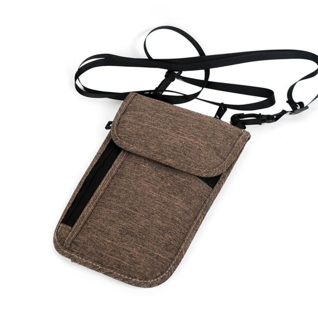 Neck Hanging Travel Passport Cover Wallet Id Holder Storage Clutch Money Bag Multifunction Credit Card