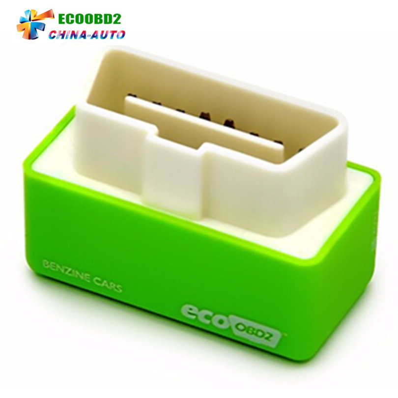 Цена за 50 шт./лот 2017 новые EcoOBD2 зеленый для Автомобили чип тюнинг коробка 15% топлива Save подключи и Драйв меньше топлива и низкий уровень выбросов