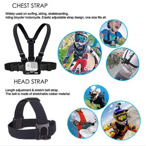 Image 3 - Universal Action accessories set For Gopro 7 6 Go Pro Head Strap Mount Chest Strap Harness Screw Adapter Camera Accessories Kit