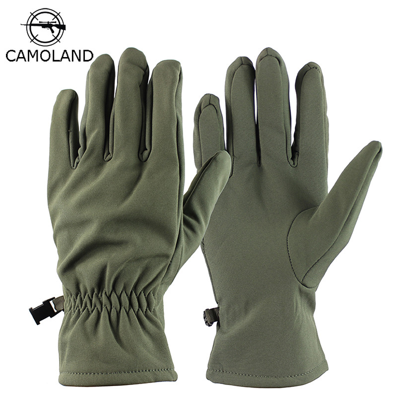 Winter Gloves Men Women Military Tactical Outdoor Sports Full Finger Mittens Fleece Waterproof Sharkskin Thermal Skiing Gloves