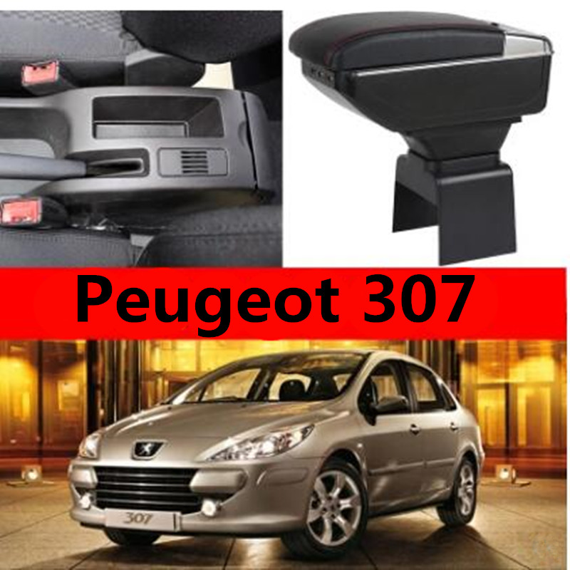 Storage font b Box b font Armrest For Peugeot 307 Arm Rest Center Centre Console Rotatable