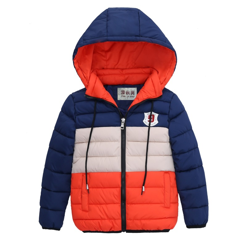 children's Winter Jackets For Boys Snow Down Jacket Hooded zip coat warm outerwear Children Clothing Coats Kids Clothes Jacket