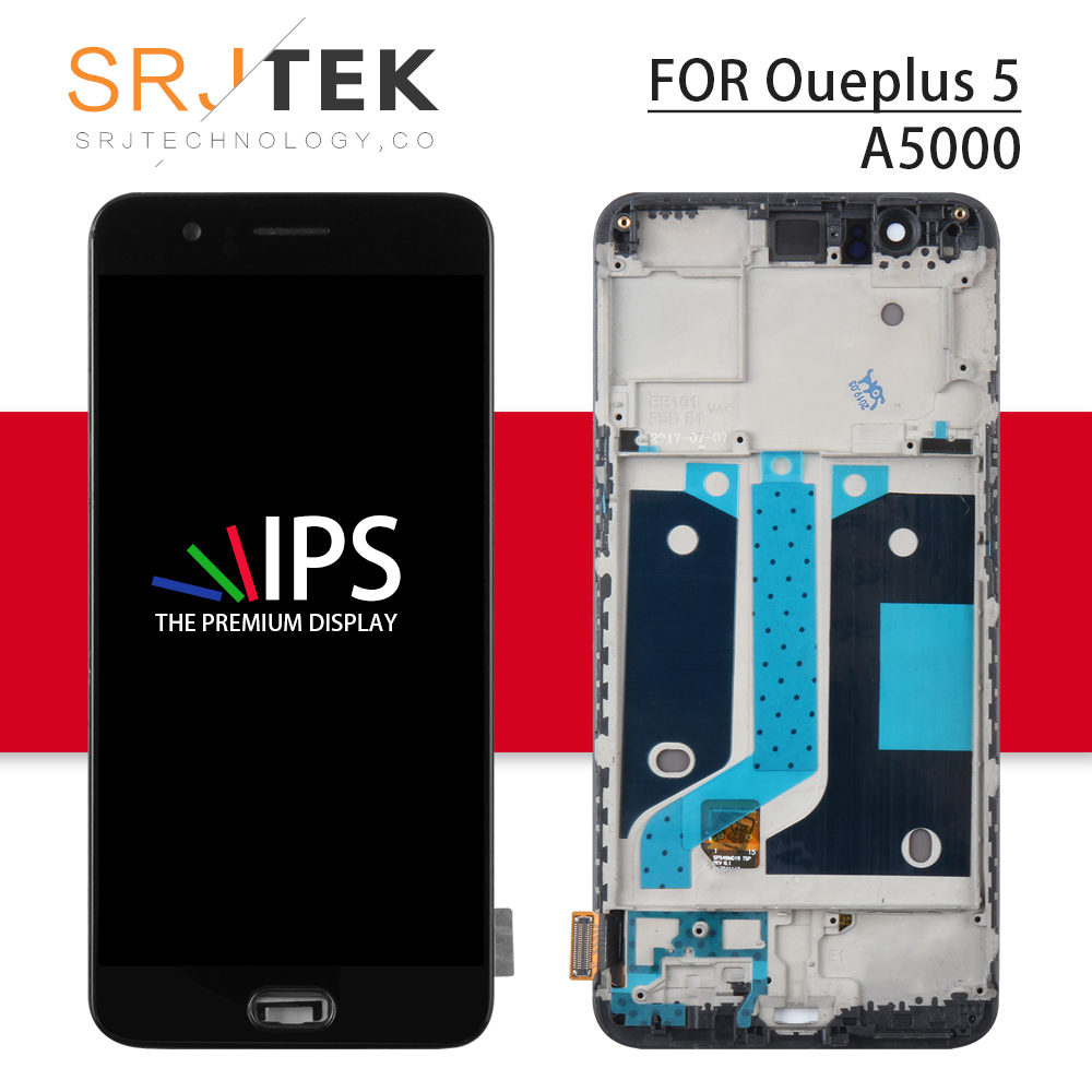 TFT For Oneplus A5000 LCD Display Touch Screen Digitizer Panel Glass Assembly For One Plus Five 1+5 Frame For One Plus 5 Display